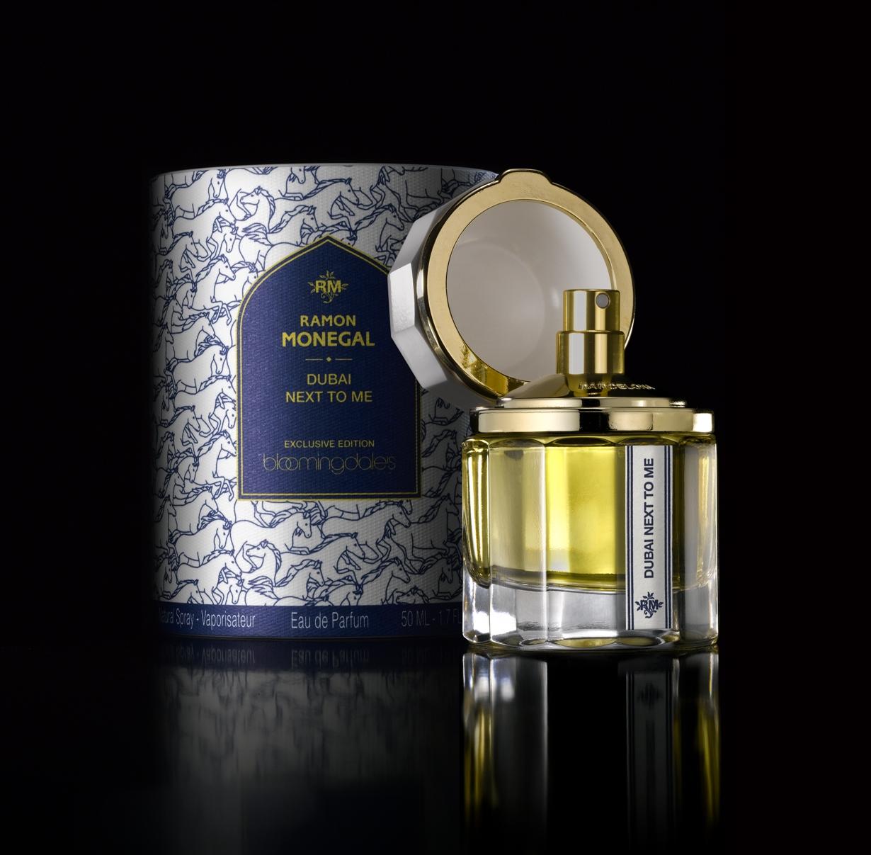 Ramón Monegal y el nuevo perfume para Bloomingdale's