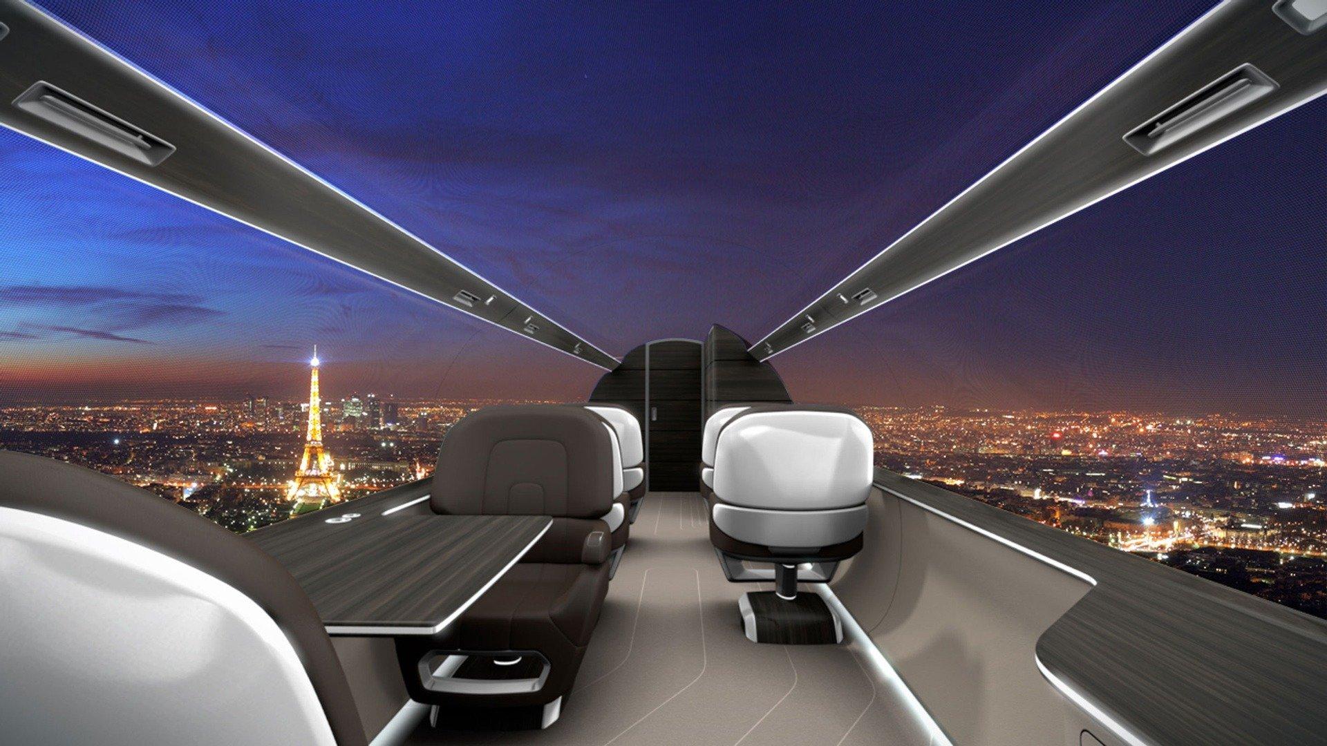 IXION Windowless Jet: el primer avión sin ventanas del mundo
