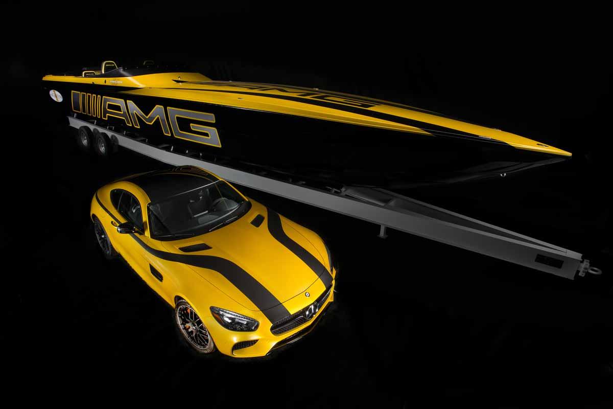 La primera lancha inspirada en el 2016 Mercedes AMG GT S