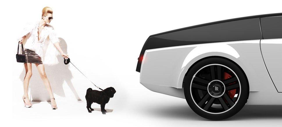 Las mascotas viajan en Rolls Royce