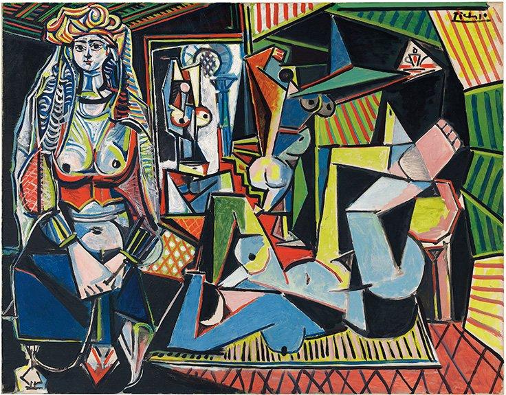 """""""Les Femmes d'Alger"""" de Picasso, el cuadro más caro jamás subastado"""