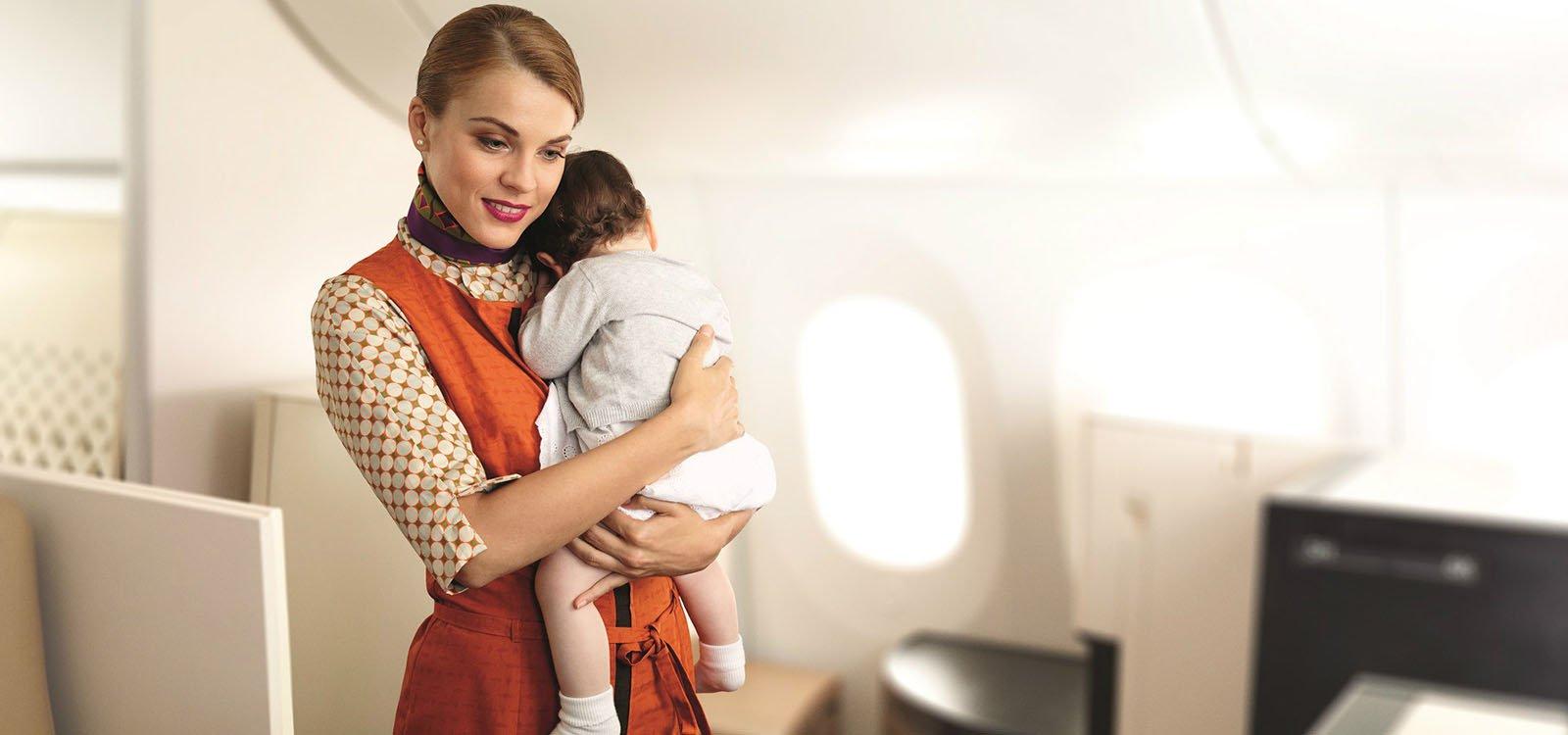 Viajar en familia con Etihad Airways
