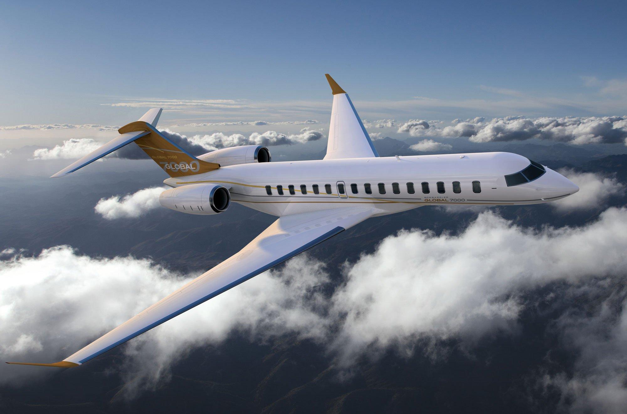 Bombardier Global 7000, un jet privado muy amplio y confortable
