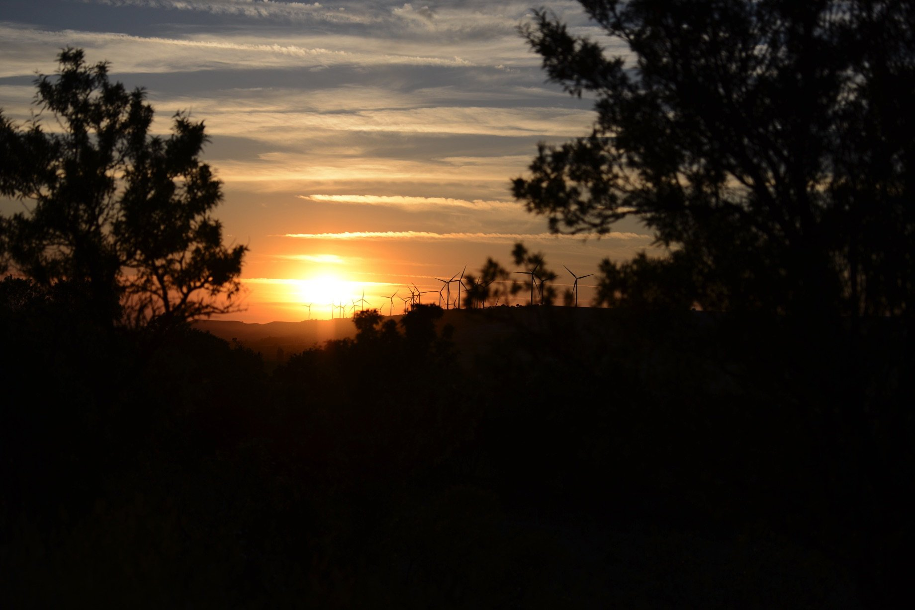 Finca El Cercado, puesta de sol