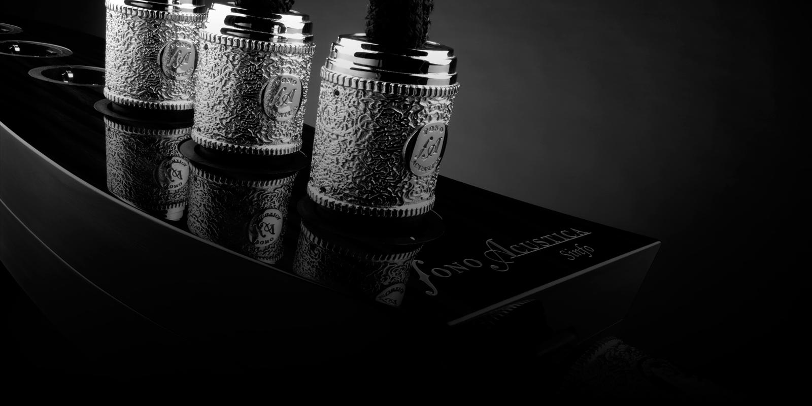 Fono acústica mezcla  elegante diseño, artesanía y tecnología