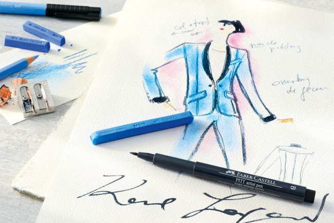 Faber_Castell_Karl_lagerfeld_esbozo_The_Luxury_Trends