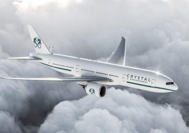 El nuevo avión Boeing 777-200LR de Crystal Air Cruises, una experiencia de viaje al nivel de los dioses