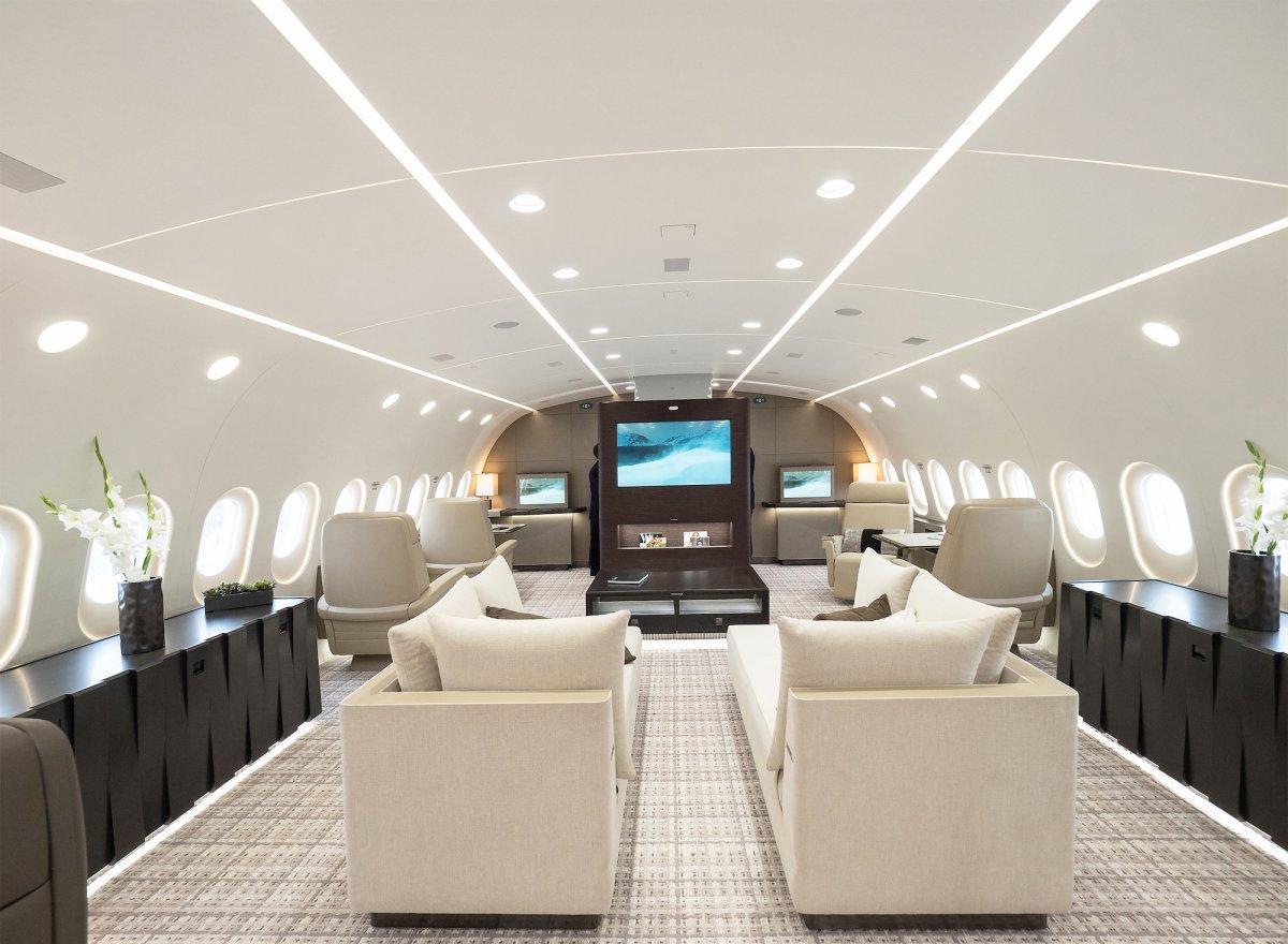 Lavado de cara para el Boeing 787 Dreamliner: de avión comercial a jet de lujo