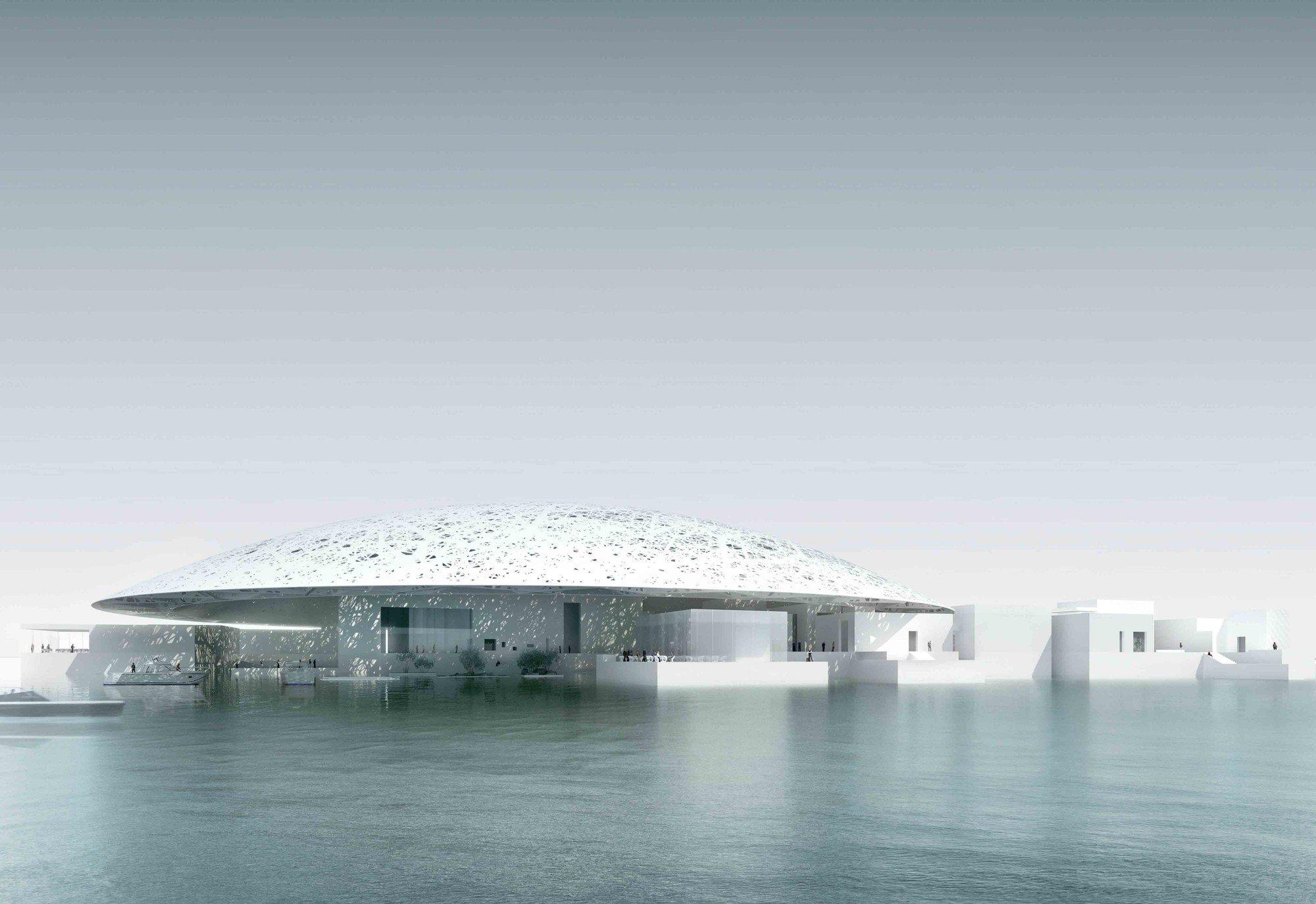 Arquitectura impactante en el nuevo Museo Louvre de Abu Dhabi