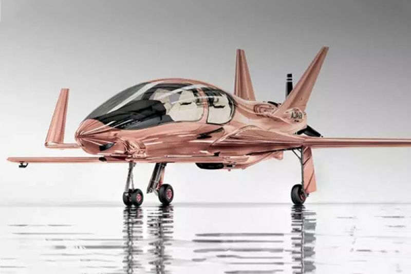 Cobalt Valkyrie-X, un excéntrico avión fabricado en oro rosado