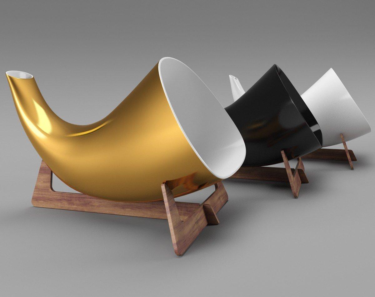 Goldgenie Megaphone: la amplificación del sonido hecha pieza de arte