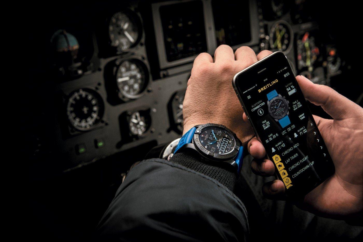 Breitling Exospace B55, el Smartwatch para pilotos y hombres de acción