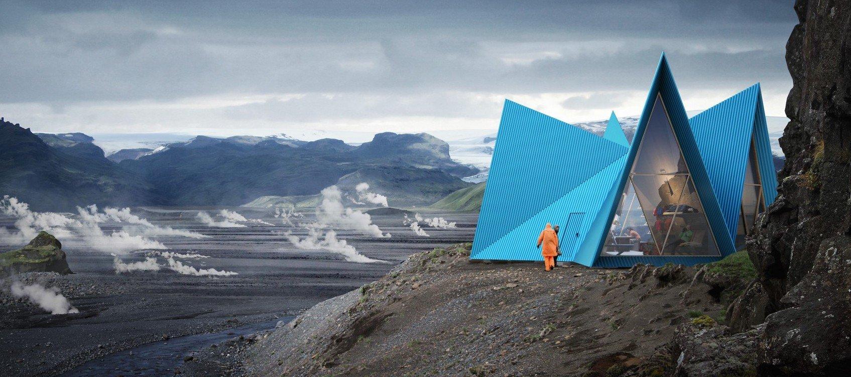 Skýli, el diseño perfecto de un refugio de montaña en tierras islandesas
