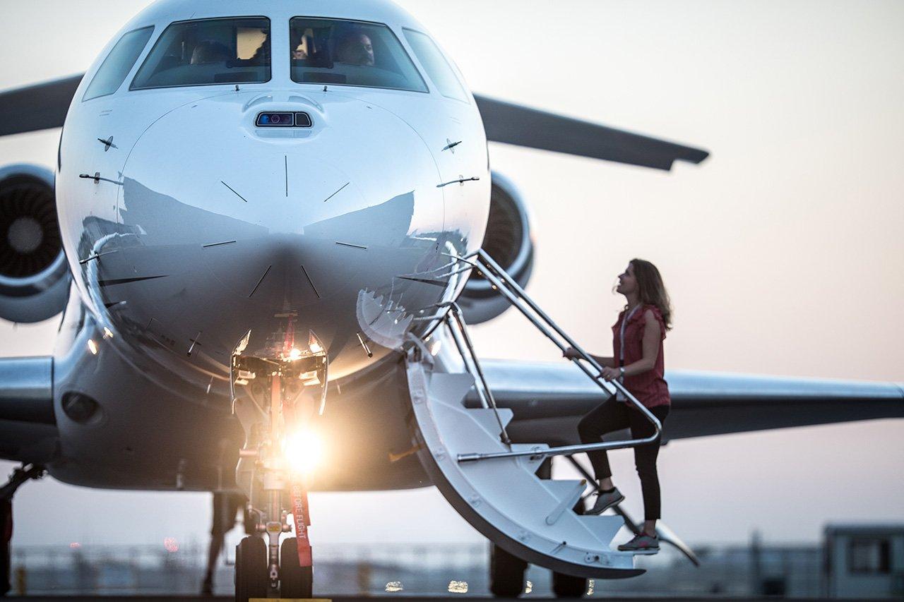 Dassault Falcon 8X, el jet privado que llega más lejos