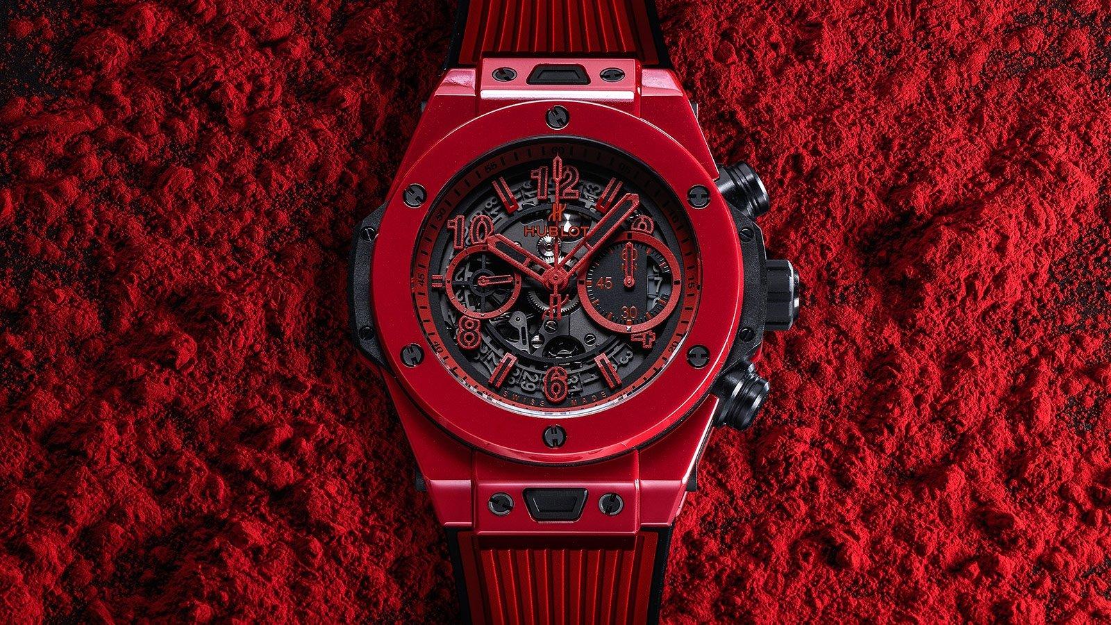 Un total look rojo para el nuevo Big Bang Unico Red Magic de Hublot