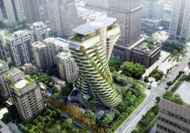 Ágora Garden, un jardín vertical en la ciudad de Taipei
