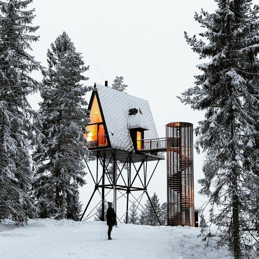 La naturaleza a vista de pájaro desde las cabañas de PAN Treetop en Noruega