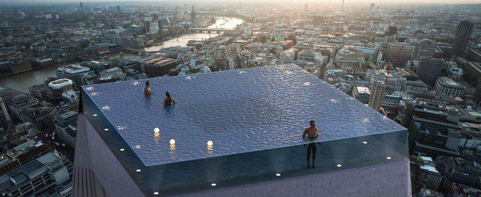 Infinity Pool London, una piscina no apta para los que tiene vértigo